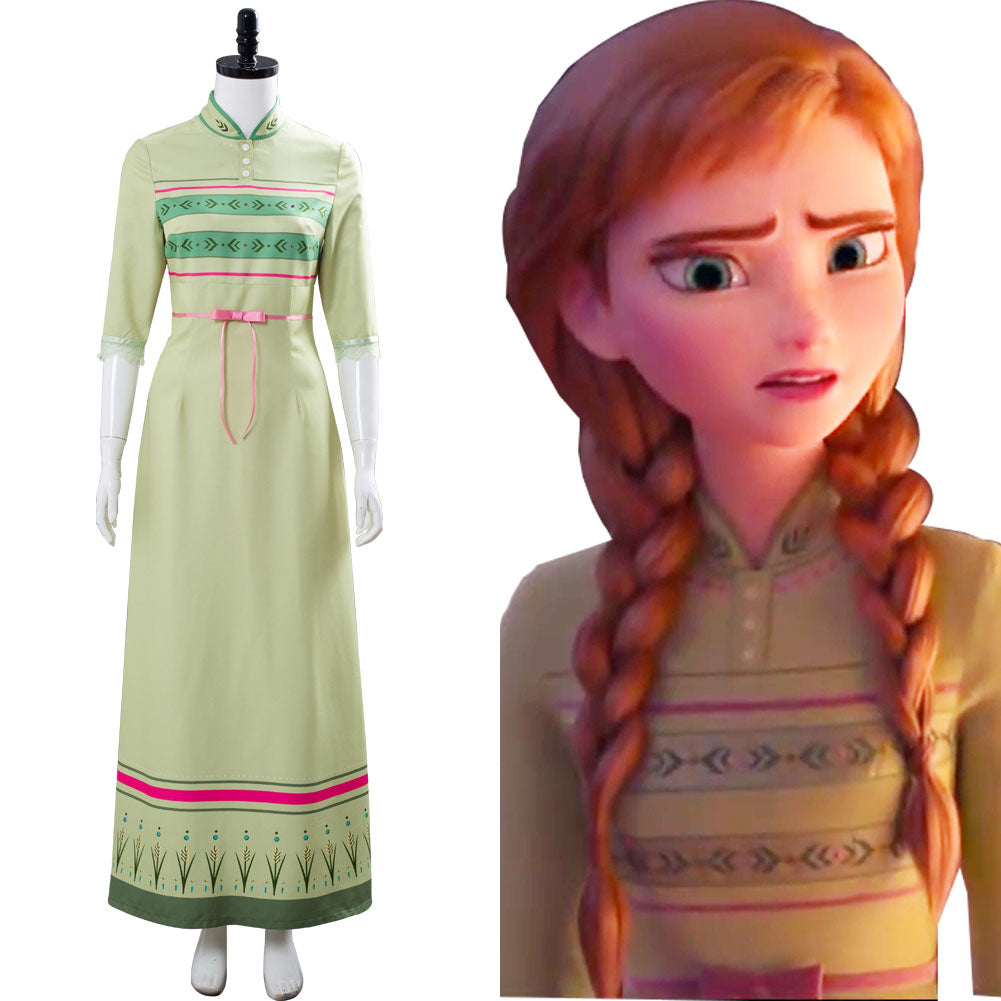 Rischioso Catalogare rabbia  Frozen 2 Arendelle Bedroom Nightgown Gown Anna Green Dress Cosplay Cos –  Cossky UK