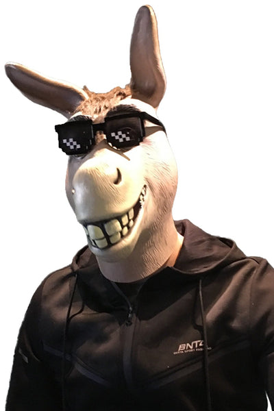 Halloween Animal Masks Grin Donkey Full Face Latex Mask