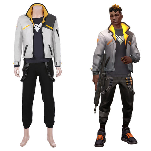 Phoenix Men Jacket Pants Suit Halloween Carnival Outfit Game Valorant Cosplay Costume