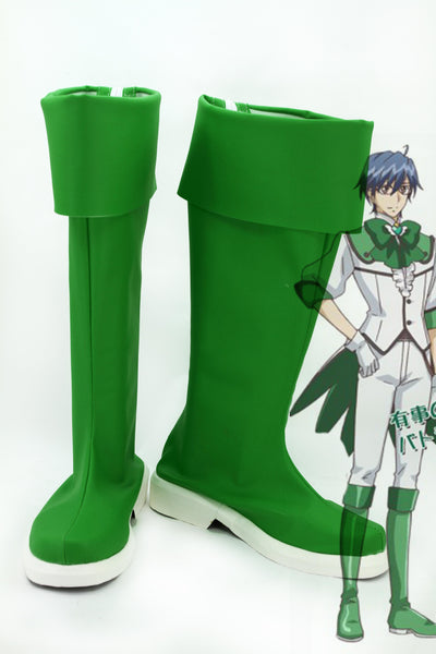 Cute High Earth Defense Club LOVE! Defense Club Atsushi Kinugawa Dark Green Boots Cosplay Shoes