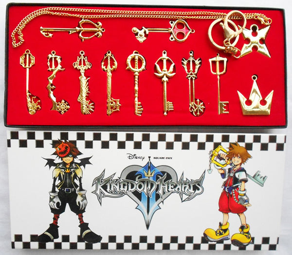 Kingdom Hearts Metal Necklace Keychain Box Collection Cosplay Accessorie