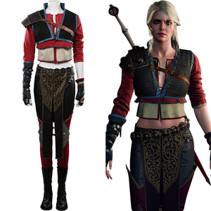 Ciri Outfits Halloween Carnival Costume The Witcher 3 Cosplay Costume