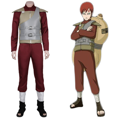 Sabaku no Gaara Jumpsuit Outfits Halloween Carnival Suit NARUTO Cosplay Costume