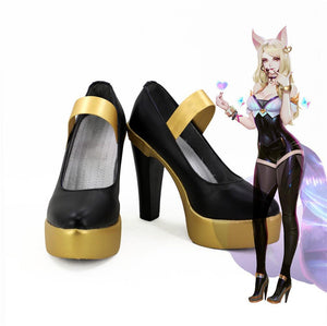 League of Legends the Nine-Tailed Fox Ahri K/DA Skin Cosplay Shoes Boots