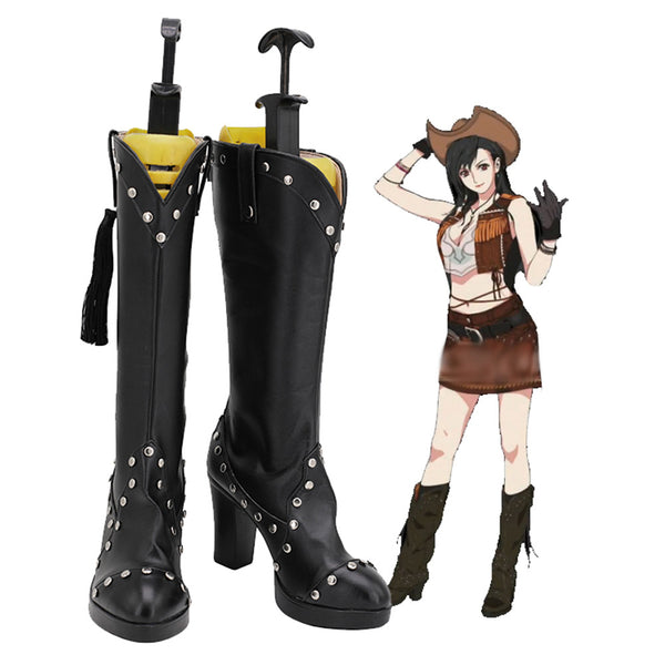 Tifa Lockhart Boots Final Fantasy VII Remake Cosplay Shoes Halloween Costumes Accessory