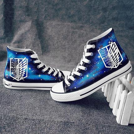 Attack on Titan Shingeki No Kyojin Wings of Freedom Canvas Shoes Sneakers Luminous Cosplay Shoes