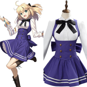 Fate/Grand Order saber lily Fourth Anniversary Cosplay Costume