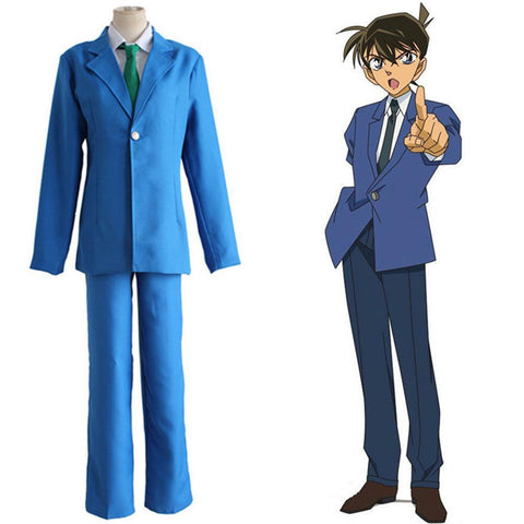 Detective Conan Case Closed Kudou Shinichi Jimmy Kudo Cosplay Costume