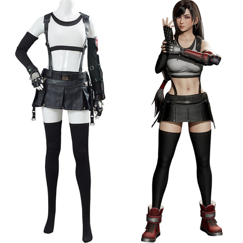 Final Fantasy VII 7 Remake Outfit Tifa Lockhart Cosplay Costume