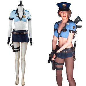 Jill Valentine Resident Evil 3 Remake Halloween Uniform Outfit Halloween Carnival Costume Cosplay Costume