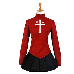 Fate/stay night Rin Tosaka Coat Skirt Outfit Cosplay Costume Version 2