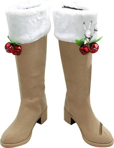 Vocaloid Snow Miku Boots Cosplay Shoes