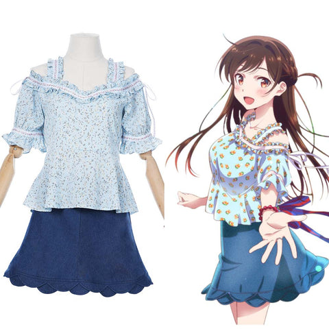 Ichinose Chizuru/Mizuhara Chizuru Women Dress Outfits Rent A Girlfriend Cosplay Costume  Halloween Carnival Suit