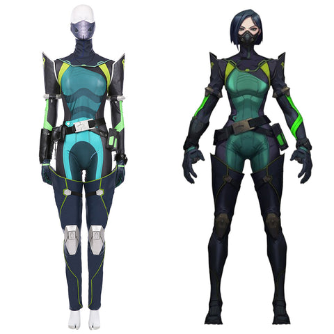 Viper Women Jumpsuit Suit Halloween Carnival Outfit Game VALORANT Cosplay Costume