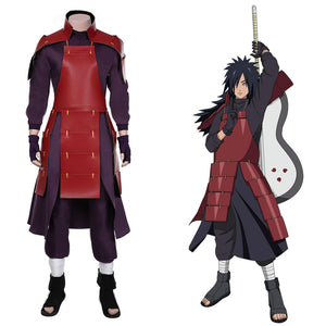 Uchiha Madara Top Pants Outfits Halloween Carnival Suit NARUTO Cosplay Costume