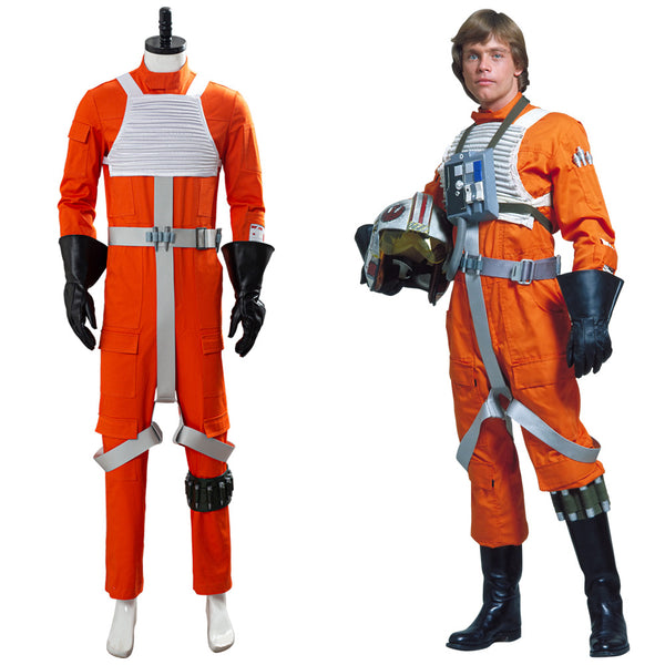 X-WING Rebel Uniform Outfit Star Wars Pilot Jumpsuit Cosplay Costume
