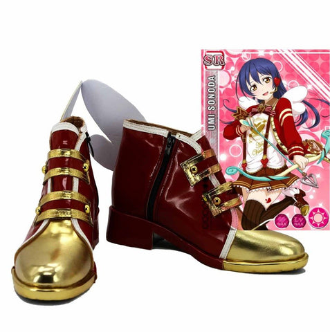 LoveLive! Valentine's Day Umi Sonoda Boots Cosplay Shoes