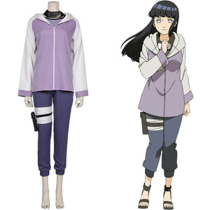 Hyūga Hinata Jacket Pants Outffits Halloween Carnival Suit NARUTO Cosplay Costume