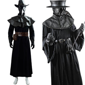 Steampunk Bird Mask Cape Long Grown Hat Set Holloween Outfit Plague Doctor Cosplay Costume