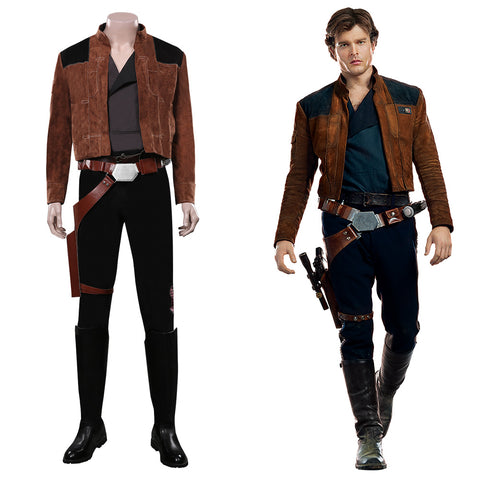 Han Solo Outfits Halloween Carnival Costume Solo: A Star Wars Story Cosplay Costume