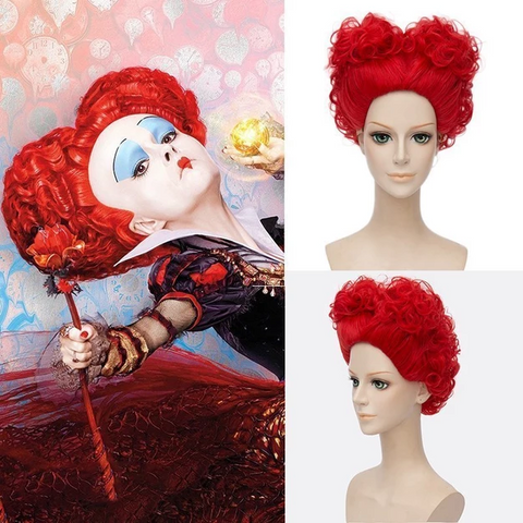 Alice in Wonderland The Red Queen Cosplay Wig