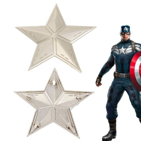 Captain America The Winter Soldier Steve Rogers Metal Star Badge Insignia