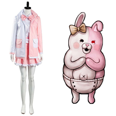 Monomi Uniform Skirt Outfits Halloween Carnival Suit Danganronpa 2 Cosplay Costume