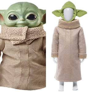 Star Wars Baby Yoda The Mandalorian Cosplay Costume For Kids Children