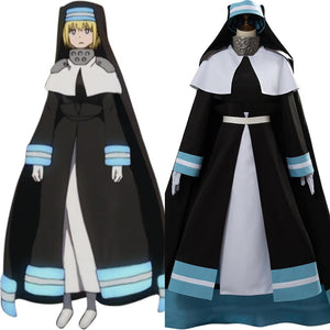 Fire Force Iris Fire Fighting Cosplay Costume