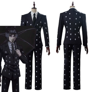 Bruno Bucciarati Slim Fit Funeral JoJo's Bizarre Adventure Golden Wind Suit Cosplay Costume