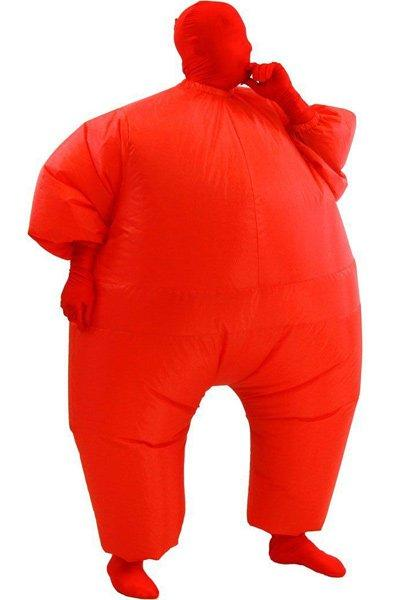 Adult Size Inflatable Costume Full Body Jumpsuit Red Version