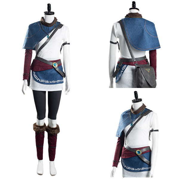 Kena Women T-shirt Pants Outfits Halloween Carnival Suit Game Bridge of Spirits Cosplay Costume