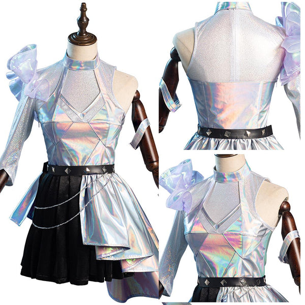 KDA Groups Seraphine Women Dress Outfits Halloween Carnival Suit League of Legends LOL Cosplay Costume