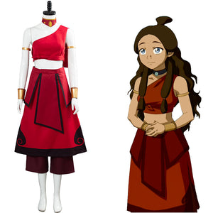 Katara Halloween Carnival Costume Avatar: the last Airbender Cosplay Costume Women Dress Outfit