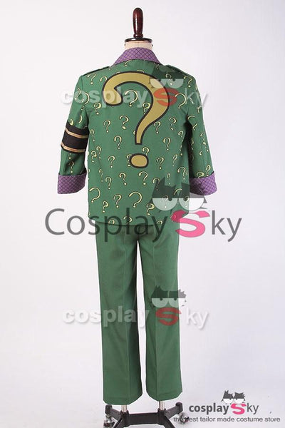Batman: Arkham City The Riddler Dr.Edward Nigma Outfit Cosplay Costume
