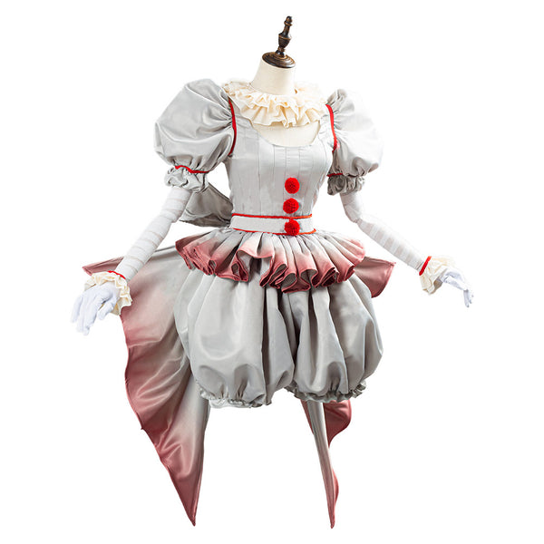 Pennywise Horror Pennywise The Clown Costume Outfit for Women Girls Cosplay Costume for Halloween Carnival