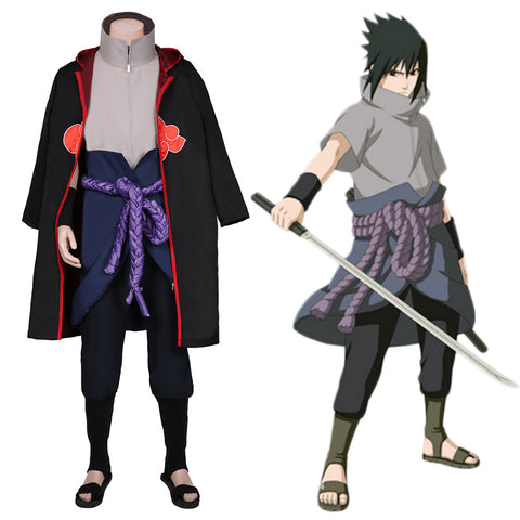 Uchiha Sasuke Coat Pants Outfits Halloween Carnival Suit NARUTO Cosplay Costume