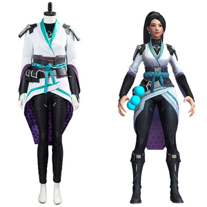 Game Valorant Halloween Carnival Uniform Sage Cosplay Costume