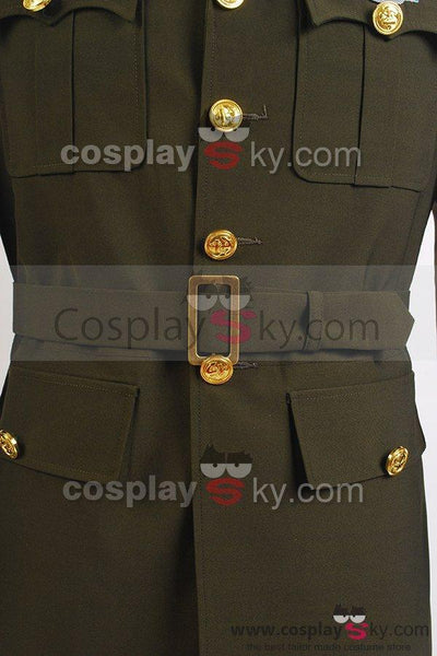Captain America Steve Rogers WWII Army SSR Uniform Cosplay Costume