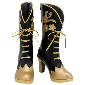Vil Schoenheit Boots Halloween Costumes Accessory Twisted Wonderland Cosplay Shoes
