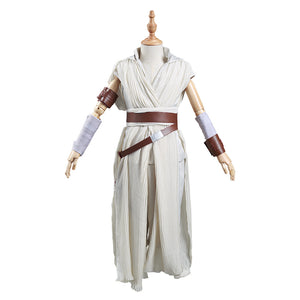 Rey Kids Children Outfits Halloween Carnival Suit Star Wars: The Rise of Skywalker Cosplay Costume