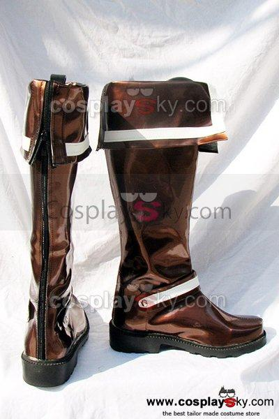 D.Gray-man Lavi Cosplay Boots Brown Shoes