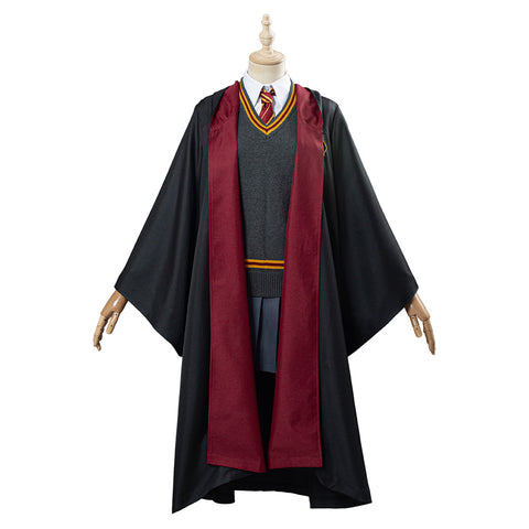 Harry Potter Hermione Granger Gryffindor School Uniform Women Robe Cloak Outfit Cosplay Costume Halloween Carnival Costume