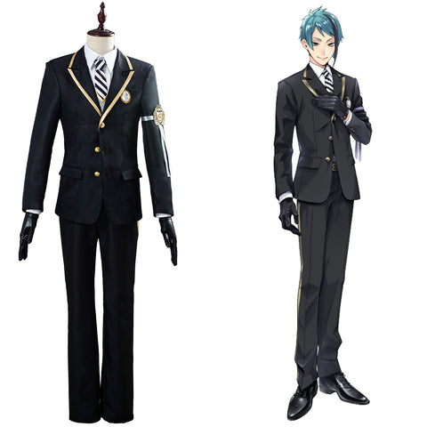 Azul/Floyd/Jade Twisted-Wonderland Halloween Carnival Costume Cosplay Costume Uniform Outfit