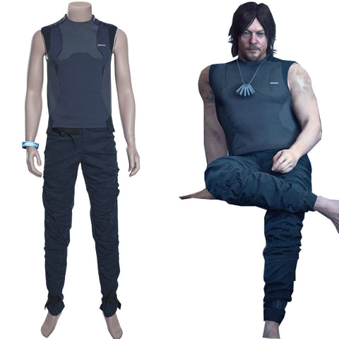 Death Stranding Halloween Uniform Sam Porter Bridges Top Cosplay Costume