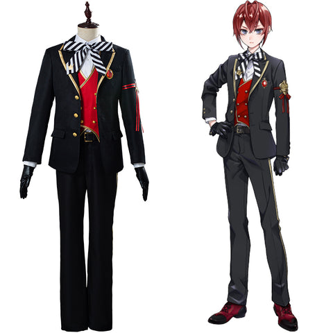 Riddle/Trey/Deuce/Cater/Ace Twisted-Wonderland Uniform Outfit Halloween Carnival Costume Cosplay Costume
