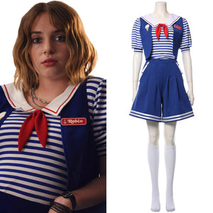 Stranger Things Season 3 Robin Sailor Cosplay Costume