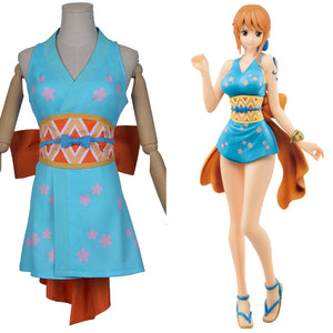 Wano Country Nami One Piece Wanokuni Style Nami Cosplay Costume Halloween Carnival Costume