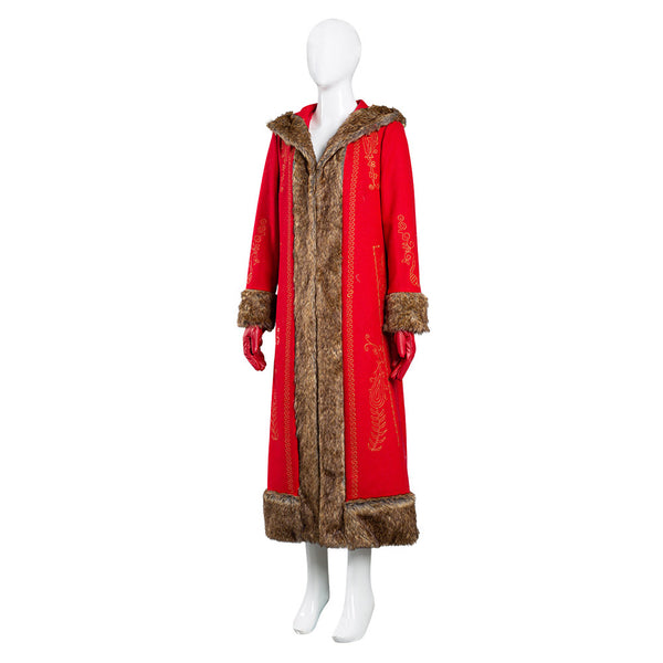 Mrs. Claus The Christmas Chronicles 2 Women Coat Cosplay Costume Halloween Carnival Suit