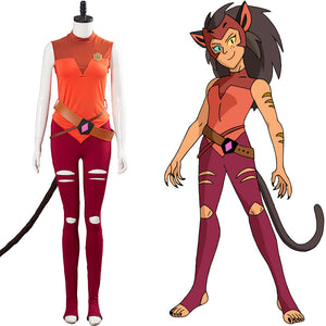 Catra Women Uniform Outfits Halloween Carnival Costume She-Ra - Princess of Power Cosplay Costume